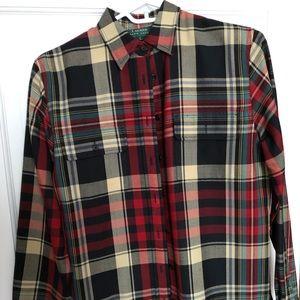 Lauren RL wool, plaid shirt